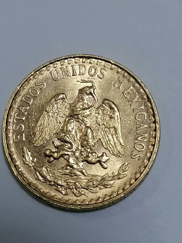 Imagen 1 de 2 de Moneda De Oro 2 Pesos Excelente Condición 1945