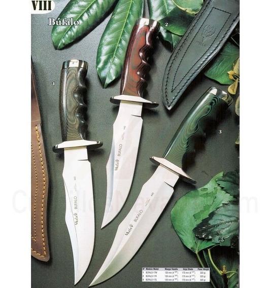 Cuchillo Muela Búfalo-17g Cachas Micarta Verde Y Alpaca 320g
