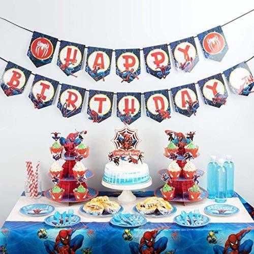 Suministros De Fiesta De Spiderman, Decoración De Cumpleaños