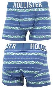 Cueca Hollister Classic Fit Boxer Brief Blue Border
