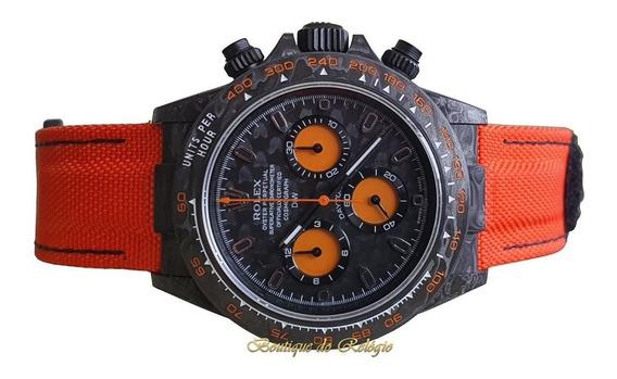 Relógio Eta - Modelo Daytona Diw Orange Carbon - Exclusivo