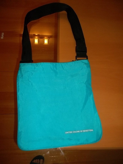 Cartera Bandolera Benetton Original Tela Impermeable