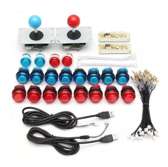 Kit Botoes Controle Arkade Para 2 Controles
