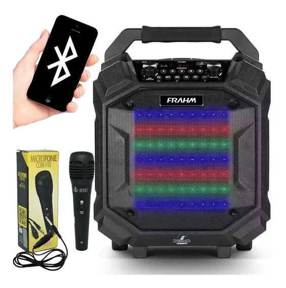 Caixa Som Amplificada Bluetooth Pb500 Bt Frahm + Microfone