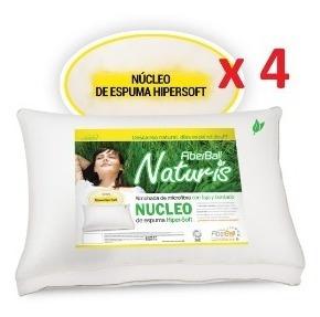 Almohadas Naturis X4 Nucleo Hipersoft Fiberball Cuotas!!