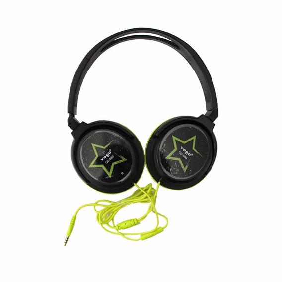 Fone De Ouvido Over-ear Cd680 S Verde - Yoga 12x Sem Juros