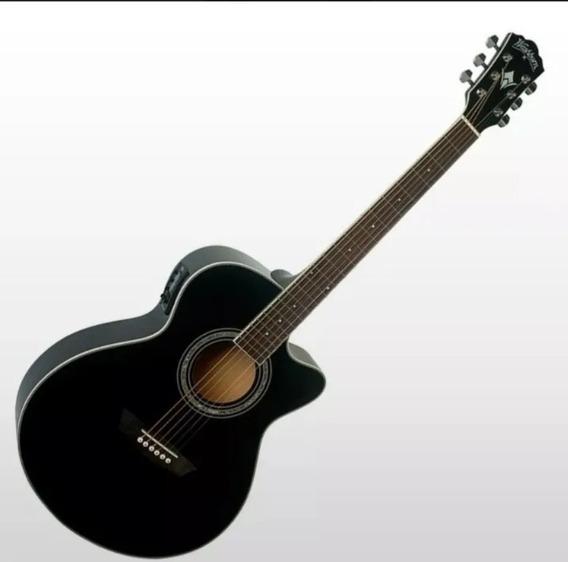 Guitarra Electroacústica Washburn Ea12 - Funda Incluída!