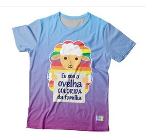 Camiseta Estampa Total Lgbt - Eu Sou A Ovelha Colorida