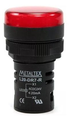 Sinaleiro Led 22mm L20-r2-r 220v Ip65 - Metaltex