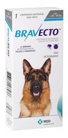 Antipulgas Bravecto Cães Entre 20kg E 40kg 1 Comprimido
