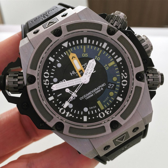 Hublot King Power Oceanographic 1000 M Chrono Edição Limitad