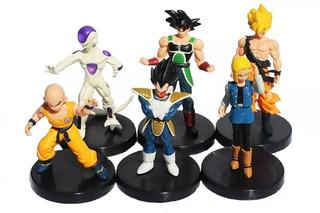 Colección Dragon Ball Z Goku Vegeta Freez X6 Figuras En Base