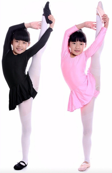 Mallas De Lycra Manga Larga Ballet Y Patinaje Oferta