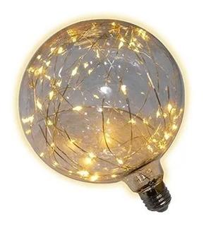 Lampara Led Globo 12cm Fantasia Glitter 1,5w Calida Deco E27