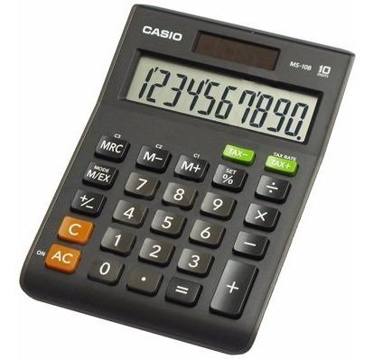 Calculadora Casio Modelo Ms 10 B De Mesa Solar