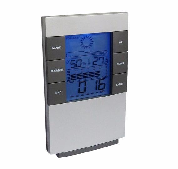Relogio De Mesa Estação Meteorologica Temperatura Umidade