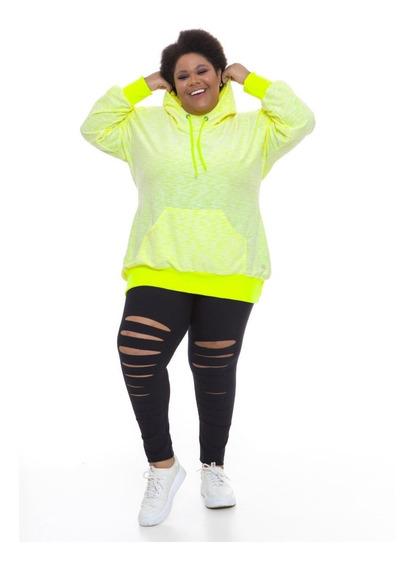 Pré Venda Blusão Moletinho Plus Wonder Size Amarelo Neon
