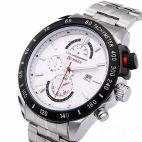 Relógio Business Social Masculino Curren Aço Prata 8148