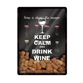 Quadro Porta Rolha Taças De Vinhos Wine Tipos De Uva 2580