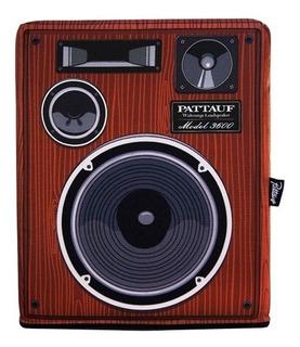Puff Almohadón Diseño Bafle Parlante Tocadisco Vintage