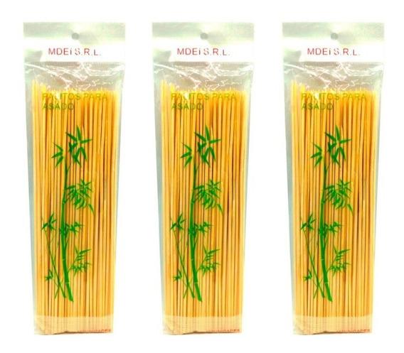 Palito Brochette O Pincho De Bambu 12cm X 100 Unidades Finger Food