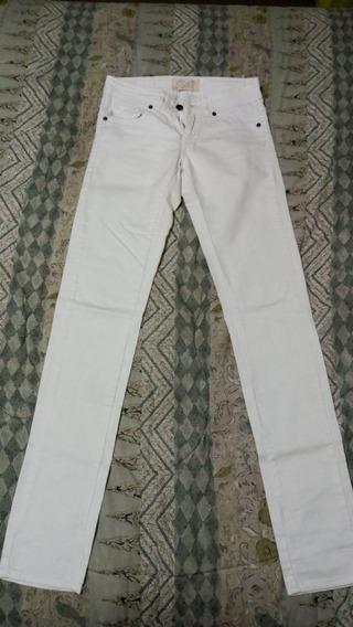 Pantalón De Jean Blanco 47 Street Excelente Estado