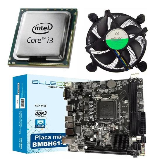 Kit Intel Processador Core I3 3220 + Placa H61 + Cpu Cooler