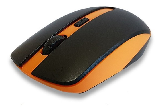 Mouse Wireless S/fios 1200 Dpi 4 Botoes 2.4 Ghz Laranja