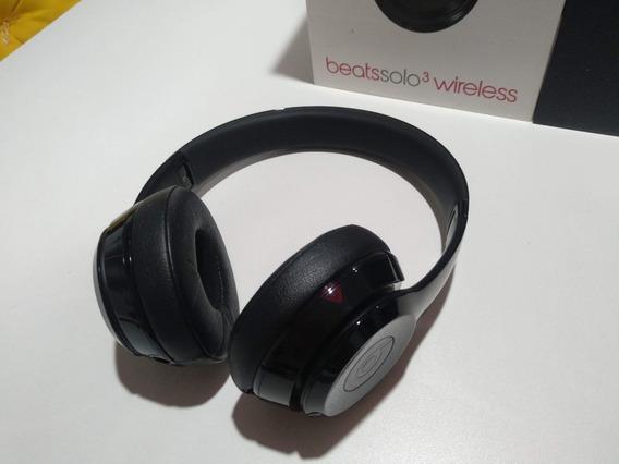Fone Beats Solo 3 Wireless Supra Auricular Microfone Caixa