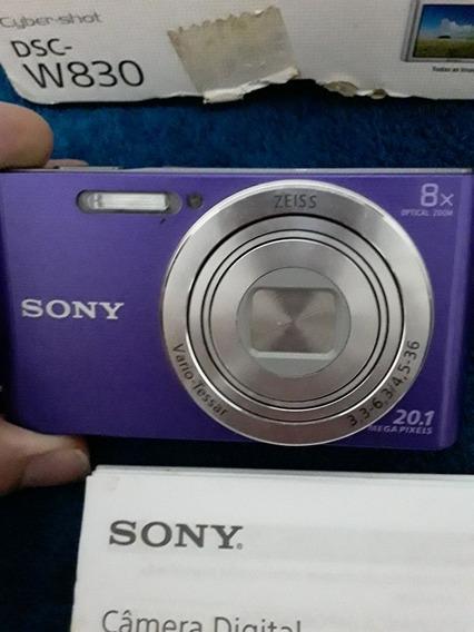 Câmera Digital Cyber Shot Dsc W830 Usado Poucas Vezes .