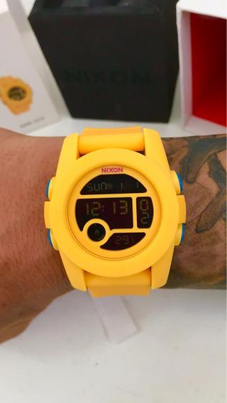 Relógio Nixon Unit Gringo Rubber Tide Fader! Exclusivo! Top