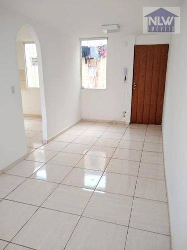 Apartamento Com 2 Dormitórios À Venda, 52 M² Por R$ 165.000,00 - Conjunto Habitacional Presidente Castelo Branco - Carapicuíba/sp - Ap3184