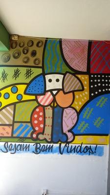 Destak Arts. Faixas E Pinturas Em Escolas E Creches.