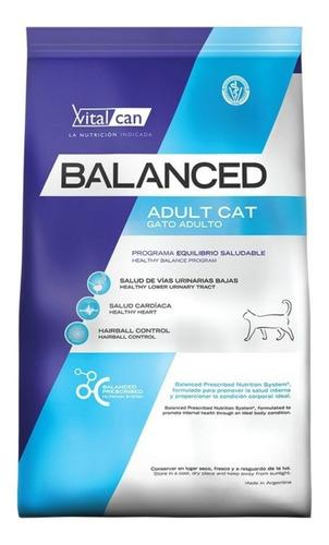 Imagen 1 de 1 de Alimento Vitalcan Balanced para gato adulto sabor mix en bolsa de 7.5kg