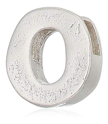 Colgante De Plata Diseño De Letra O, Marca Pyle