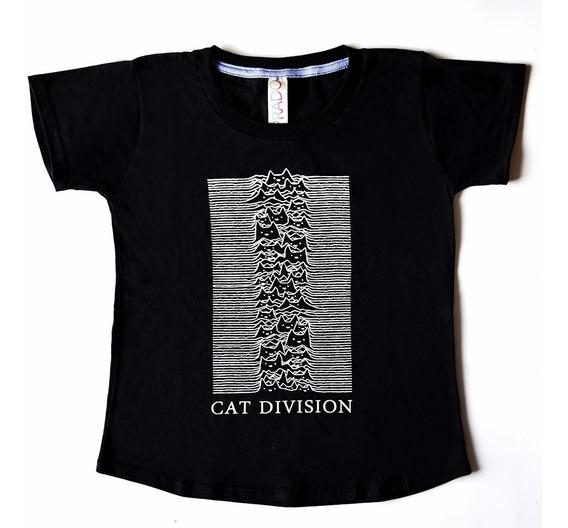 Remera Joy Division Cat Division - Algodón Serigrafía. Prado