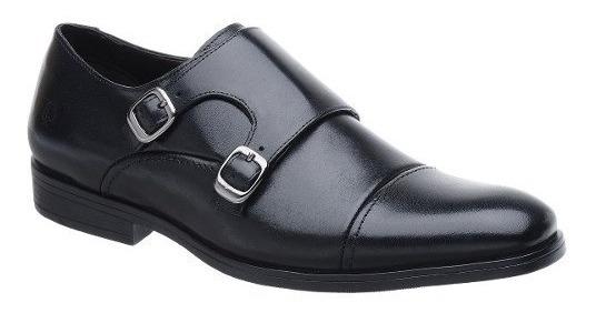 Sapato Masculino Monk Malbork Couro Legítimo Solado Borracha