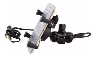 Suporte Celular P/ Moto Cg Fan Titan 125 Com Carregador Usb