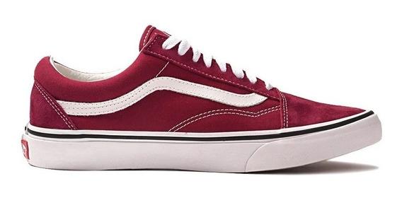 Tenis Old Skool Vermelho Red Faixa Branca Skate Street Wear.