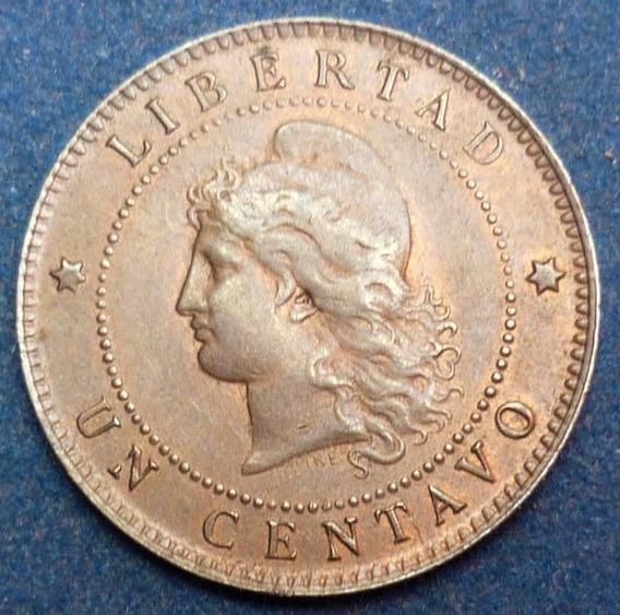 Argentina Un 1 Centavo 1892 Var.cj# 47.3 Sin Circular(-)