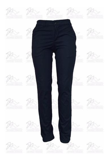 Pantalon Dama Marino Tipo Dickies 97% Algodón 3% Spandex