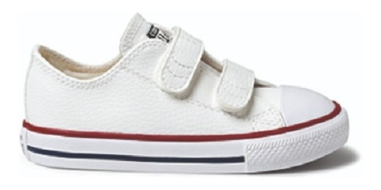 Tenis All Star Baby Couro Velcro Ck0418