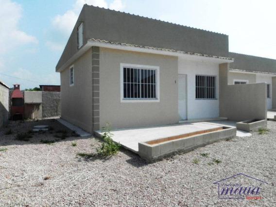 Casa 02 Quartos Pronta Para Morar Em Praia De Mauá, Novíssima! - Ca0148