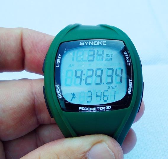 Synoke Relógio Pedometer 3d Masculino 50m Lindo No Brasil