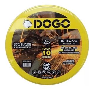 Pack Discos De Corte X 10 Recto Dogo Acero 115 X 1 X 22,2 Mm