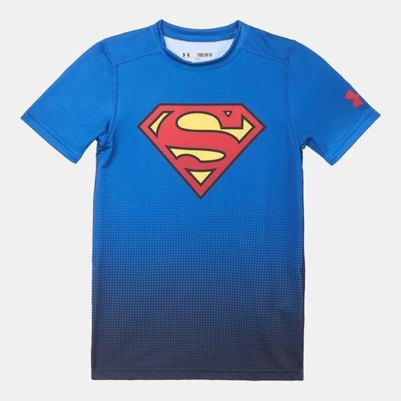 Playera Infantil Superman Alter Ego Under Armour Compresion