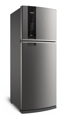 Imagen 1 de 4 de Heladera no frost Whirlpool WRM56K1 inox con freezer 462L 220V