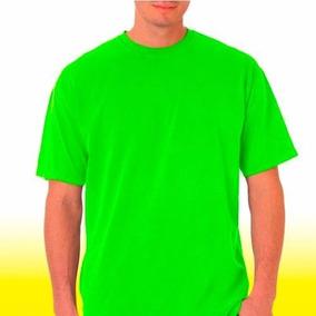 Mayoreo 10 Playeras Verde Limon Para Estampar O Bordar