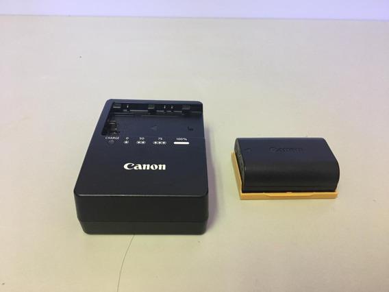 Carregador Canon Original Lc-e6 Com Uma Baterias Lp-e6