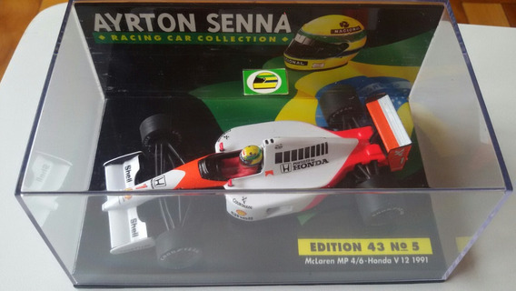 F1 Mclaren Mp 4/6 Senna - Honda V 12 1991 Asc 5 Escala 1:43